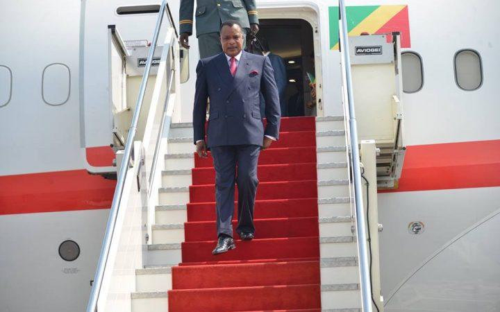 CONGO: le président Denis Sassou-N'Guesso de retour du sommet de Sotchi (Russie)